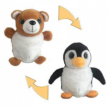 Перевертыши. Пингвин/Медведь 16 см, игрушка мягкая.