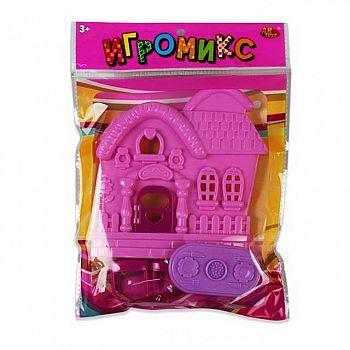 """Игровой набор ABtoys Игромикс """"Мебели с домиком"""", 4 предмета"""
