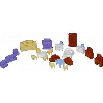 Набор мебели для кукол №5, 21 элемент