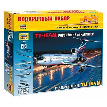 Набор подарочный-сборка Пассажирский авиалайнер ТУ-154