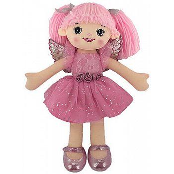 Кукла ABtoys Мягкое сердце, мягконабивная, балерина, 30 см, цвет розовый