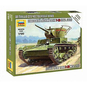 Сборная модель ZVEZDA Советский легкий танк Т-26 (обр. 1933г)