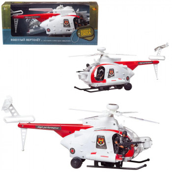 Вертолет Abtoys Боевая Сила военный (белый), эл/мех, световые и звуковые эффекты, в коробке
