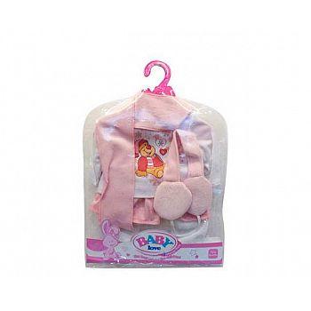 Одежда для кукол: кофточка, штаны, шарф, головной убор наушники