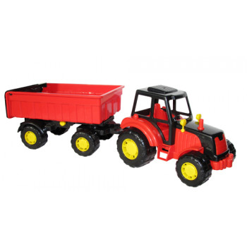 Трактор с прицепом №1 Мастер 43х13х13,5 см.