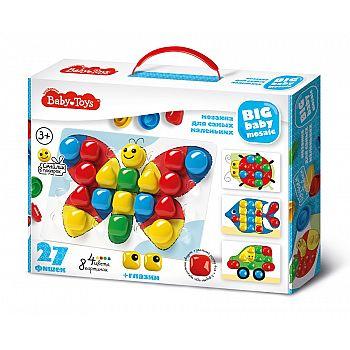 Мозаика для самых маленьких BABY TOYS d40/4 цв/27 эл