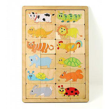 Игра развивающая деревянная Веселые половинки