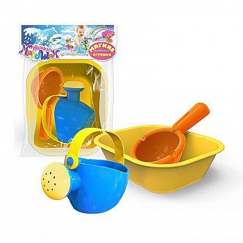 Игрушка для ванны ( ванночка, лейка малая, ковш)
