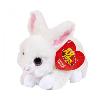 Мягкая игрушка ABtoys Домашние любимцы Кролик белый, 15 см игрушка мягкая