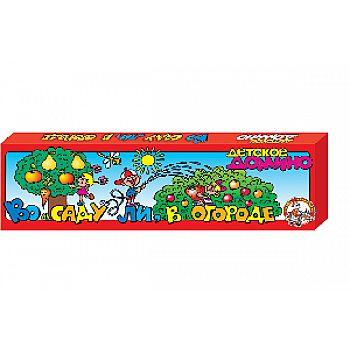 Домино В саду ли, в огороде (картон, 28 элементов)