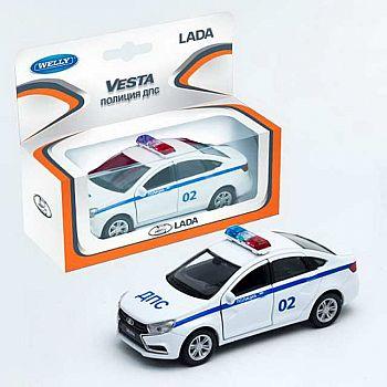 Машинка металлическая 1:34-39 LADA VESTA полиция ДПС