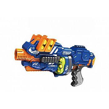 Бластер электромеханический с мягкими снарядами-шарами, 12 штук в комплекте