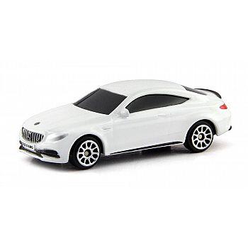 Машинка металлическая Uni-Fortune RMZ City 1:64 Mercedes-Benz C63 S AMG Coupe 2019 (цвет белый)