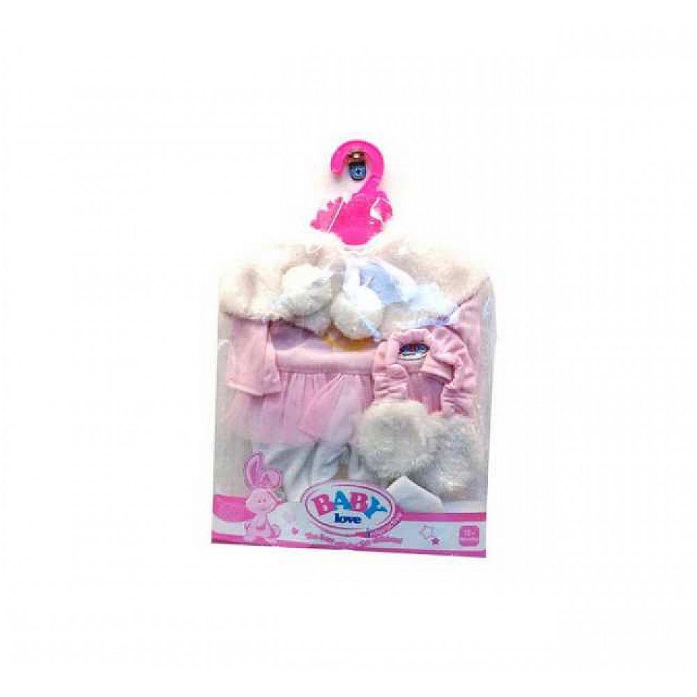 Комплект зимней одежды для кукол: костюмчик и меховые наушники