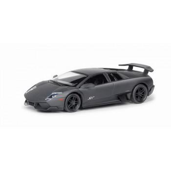 Машинка металлическая Uni-Fortune RMZ City 1:32 Lamborghini Murcielago LP670-4 , инерционная, черный матовый цвет, 16.5 x 7.5 x 7 см