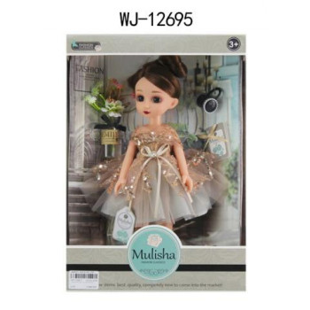 Кукла ABtoys Emily Mulisha с букетом и аксессуарами, 33см