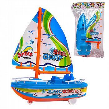 Игрушка заводная. Лодка парусная