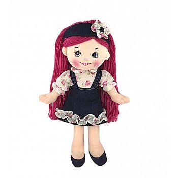 Кукла ABtoys Мягкое сердце, мягконабивная, джинсовая, 25 см