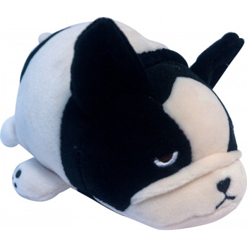 Super soft. Собачка розовая с черным, 13 см игрушка мягкая
