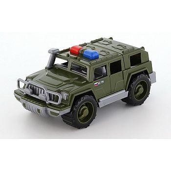 Автомобиль военный джип патрульный Защитник 31х15,5х13 см.