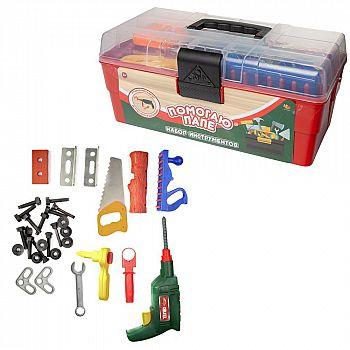 Игровой набор ABtoys Помогаю папе в ящике, 33 предмета