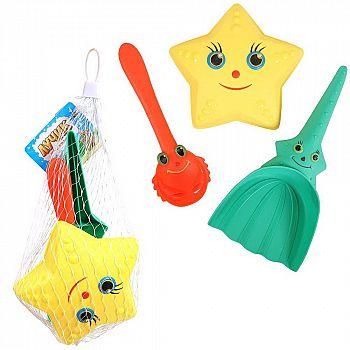 Набор игрушек для песочницы ABtoys Лучик, 3 предмета