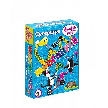 Игра настольная карточная Многобукв. 5-10 лет