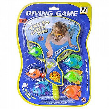 Игровой набор Junfa Поймай рыбку сачок 23х14см и 6 тропических рыбок