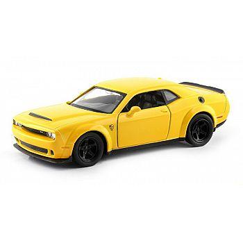 Машинка металлическая Uni-Fortune RMZ City 1:32 Dodge Challenger SRT Demon 2018 (цвет желтый)
