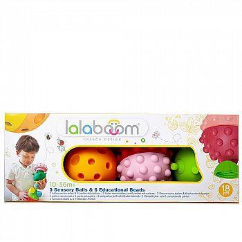 """Игрушка развивающая """"Lalaboom"""", 3 тактильных мяча (18 деталей в комплекте)"""