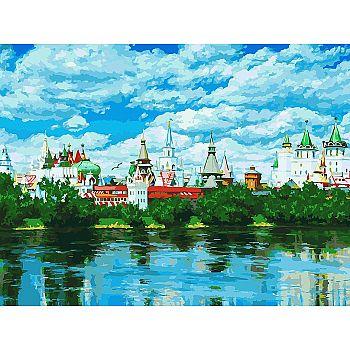 Набор для творчества Белоснежка картина по номерам на холсте Русское подворье 30 на 40 см