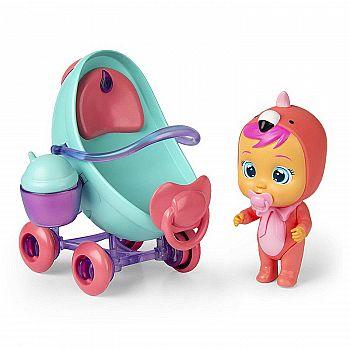 Игровой набор IMC Toys Cry Babies Magic Tears Плачущий младенец Фэнси в комплекте с коляской и аксессуарами