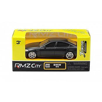 Машинка металлическая Uni-Fortune RMZ City 1:64 BMW M5, без механизмов, черный матовый цвет