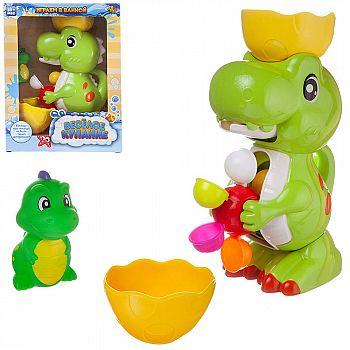 Игрушка для ванной Abtoys Веселое купание. Динозаврик-фонтан с динозавриком для ванны