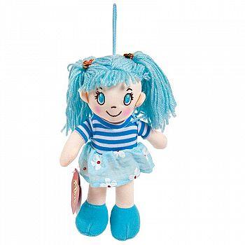 Кукла ABtoys Мягкое сердце, мягконабивная в голубом платье, 20 см