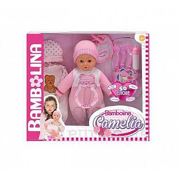 Кукла DIMIAN Bambolina Camelia Пупс интерактивный 40 см