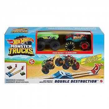 Игровой набор Mattel Hot Wheels Монстр трак Автотрек Двойное уничтожение