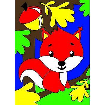 Набор для творчества LORI Картина по номерам для малышей Белочка в лесу