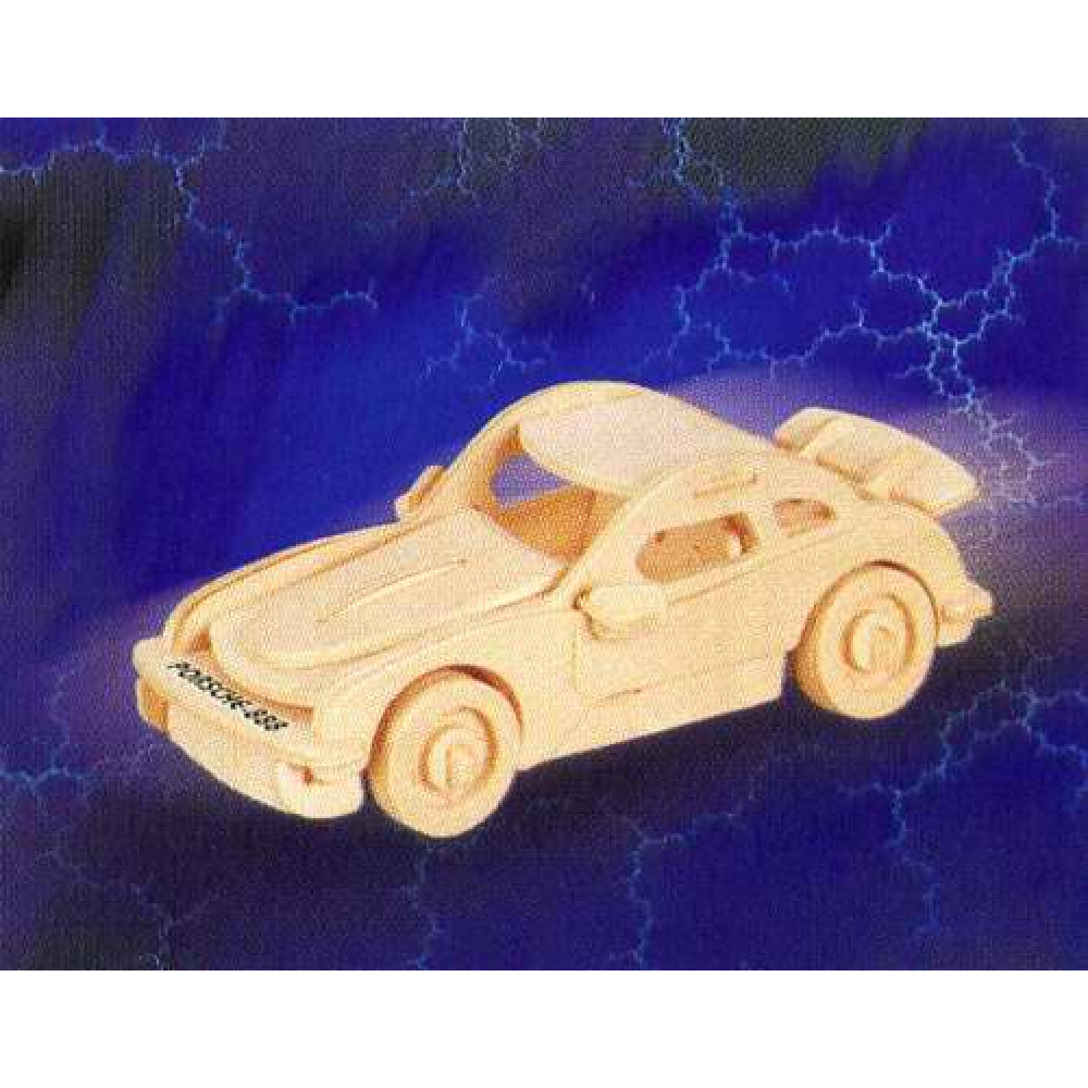 Сборная деревянная модель Чудо-Дерево Транспорт Спорткупе (2 пластины)