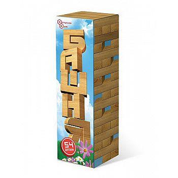 Настольная игра Нескучные игры Башня (Дженга) 54 деревянные детали