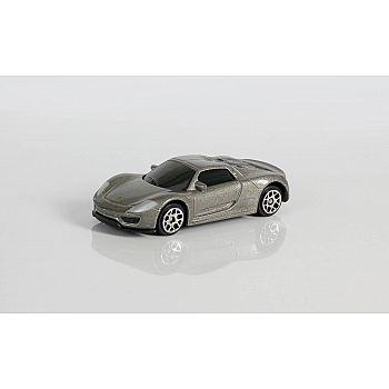 Машинка металлическая Uni-Fortune RMZ City 1:64 Porsche 918 Spyder, без механизмов, (серый)