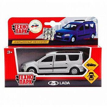 Машинка Технопарк Lada Largus серая, открываются двери, 12см, металлическая, инерционная
