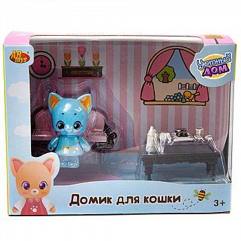 Игровой набор ABtoys Уютный дом Домик для кошки малый. Гостиная