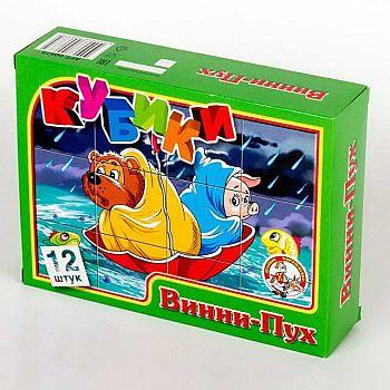 Кубики Винни-Пух 12 шт