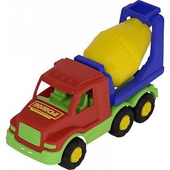 Автомобиль бетоновоз Максик 20,2х8,3х11,8 см.