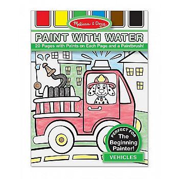 Раскраска с палитрой на каждом листе Транспорт