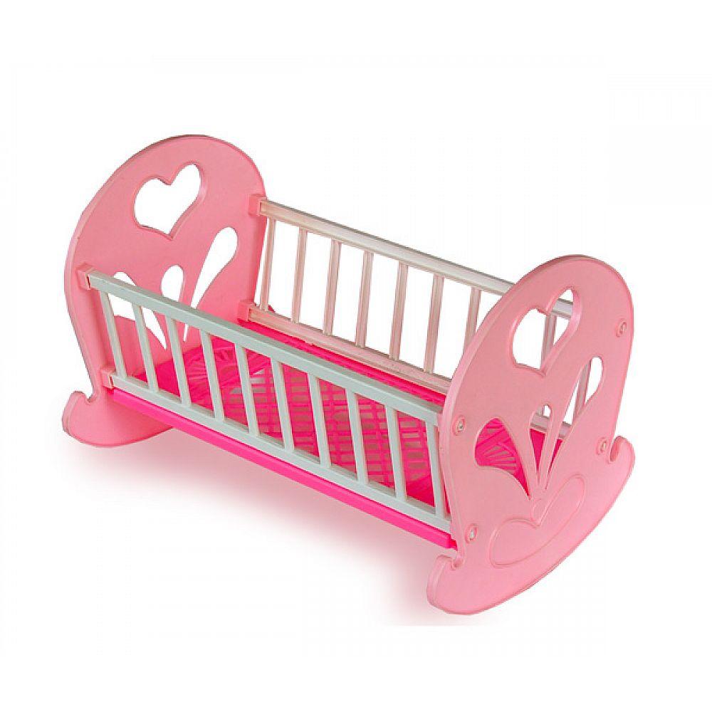 Кровать- качалка для кукол 46*30*30см