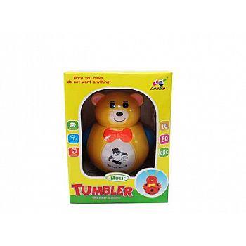 Игрушка для малышей. Неваляшка Медвежонок, звуковые эффекты, 13x19x12см