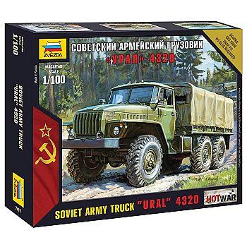 Сборная модель ZVEZDA. Советский армейский грузовик Урал-4320