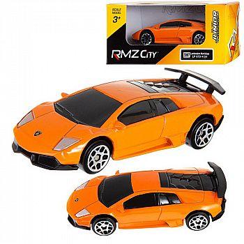Машинка металлическая Uni-Fortune RMZ City 1:64 Lamborghini Murcielago LP670-4 без механизмов, (оранжевый), 7,26х3,19х2,00 см